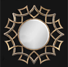 Large Metal Gold Round Mirror