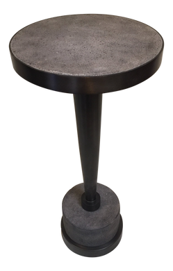 Industrial  Round Concrete Side Table