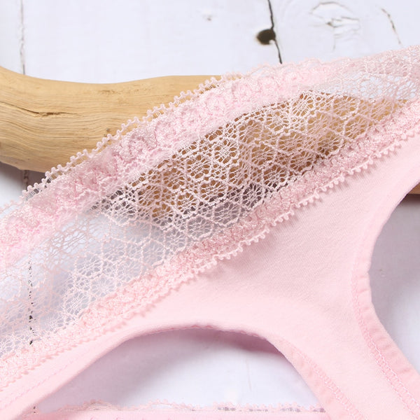 Cotton Lace Thong Seamless G-String Plus Size Briefs Panties Underwear Newest Lingerie