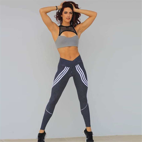 2 Styles Printed Outdoor Sporting High Waist New Style Sportswear Elastic Force Slim Leggings