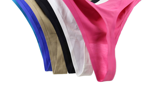 High Quality Seamless Panties Ice Silk G-string low-Rise Underwear Lingerie Plus Size Solid Thong Panties