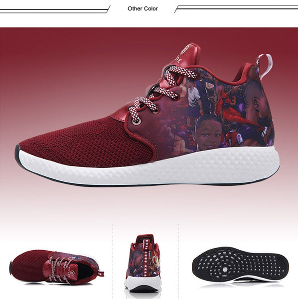 Li-Ning Men's Dwyane Wade DOPE CLOUD Basketball Culture Mono Yarn Breathable Wearable Sneakers