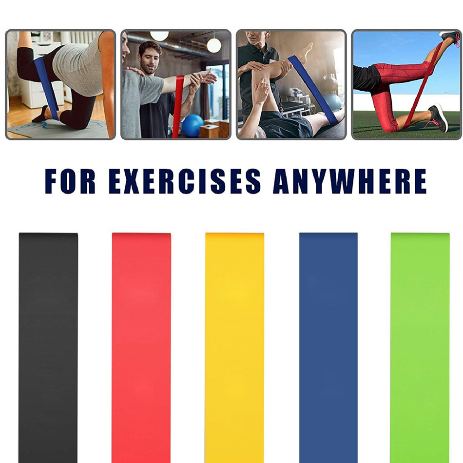 REXCHI Gym Fitness Resistance Bands for Yoga Stretch Pull Up Assist Bands