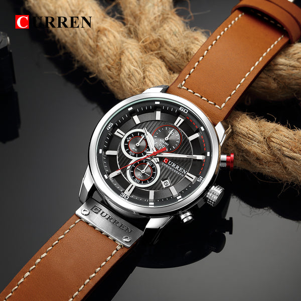 Luxury Analog Digital Leather Sports Men's Army Military Quartz Watch