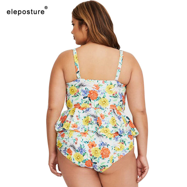 High Waist Swimsuit Plus Size Swimwear Push Up Bathing Suits Vintage Retro Beach Wear Swimming Suit For Women