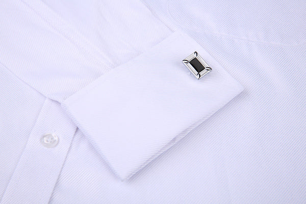 French Cufflinks  Long Sleeve Casual Slim Fit French Cuff Dress Shirts For Men