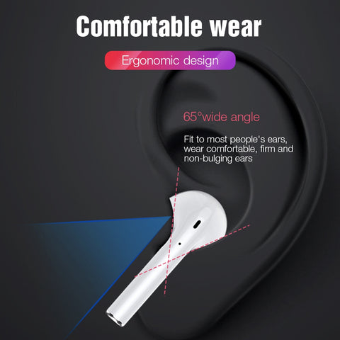i12 TWS Original Bluetooth 5.0 Earphone Tag Control Wireless Headphone 3D Stereo Earbuds