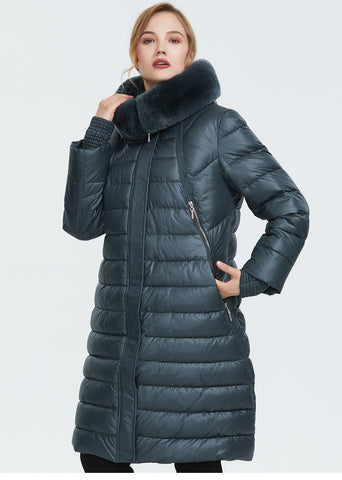 Winter down outerwear high quality thick cotton fashion style long Puffer winter coat Jacket