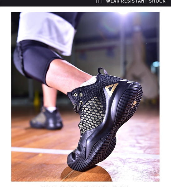 PEAK Men Streetball Master Basketball Breathable Anti-slip Wearable Basketball Sneakers Rebound Gym Outdoor Sports Shoes