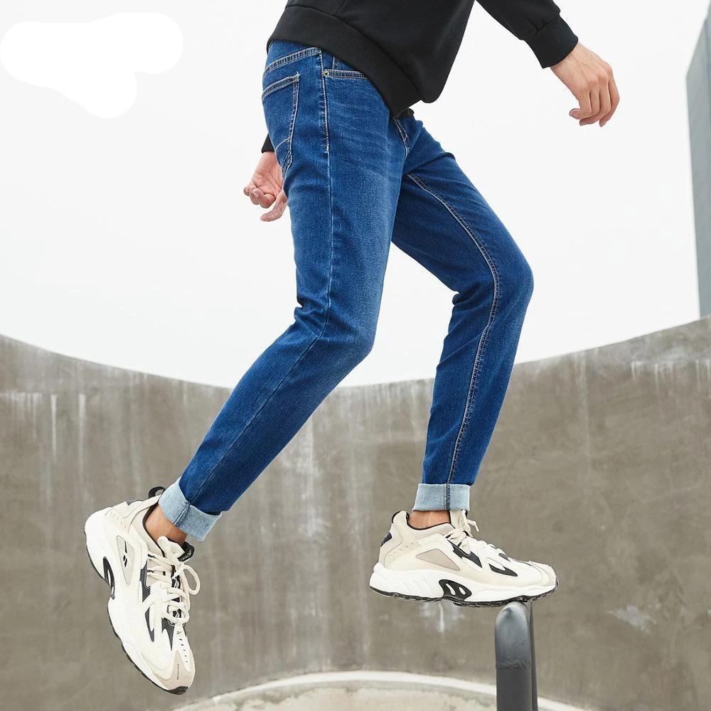 Men's Casual Slim fit Straight High Stretch Feet skinny Denim jeans