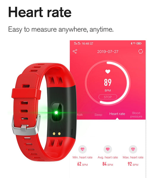 Fitness Tracker HR Activity Tracker Heart Rate Monitor IP67 Waterproof Step Counter Sleep Monitor Smart Band Watch