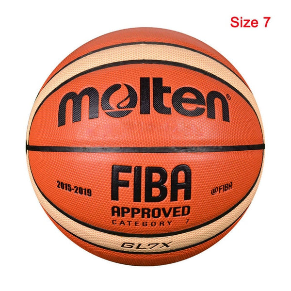 Official Size 7/6/5 PU Leather Outdoor Indoor Match Training Basketball