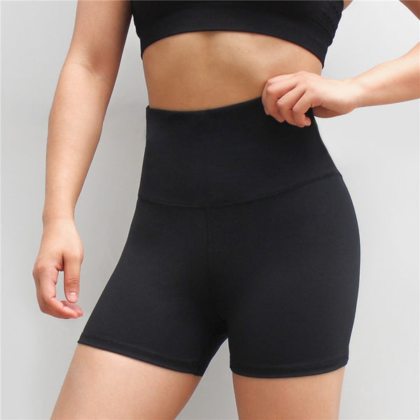 High Elastic Cross Waist Hip Tight Fitness Sportswear Casual Shorts Quick Dry Breathable Shorts