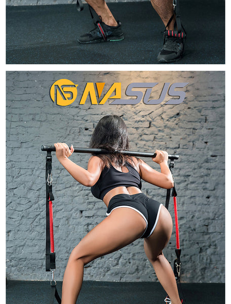 Fitness stick strength training Yoga Stretch band slimming pull squat artifact resistance band