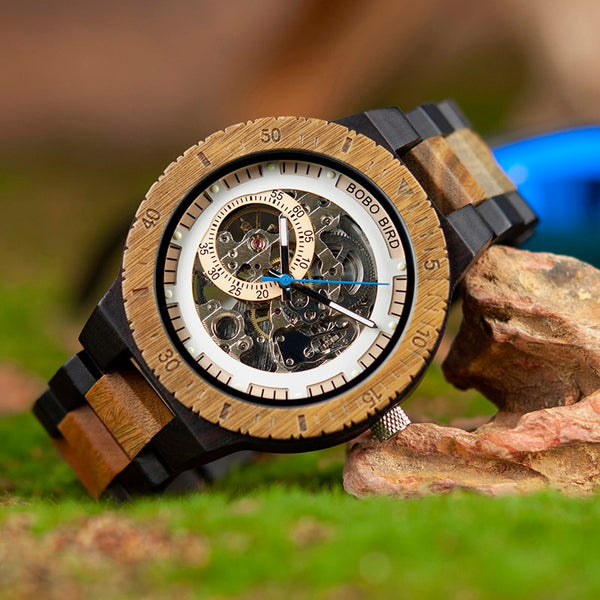 Wooden Mechanical Watch Mens Watches Top Brand Luxury Timepiece