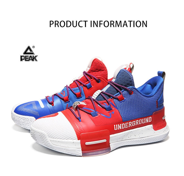 PEAK Louis Williams Underground Mens Basketball TAICHI Adaptive Cushioning Shoes Sneakers