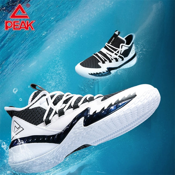 PEAK Men Killer Whale Basketball Professional High Top Gym Comfortable Sneakers Cushion Breathable Outdoor Sport Shoes