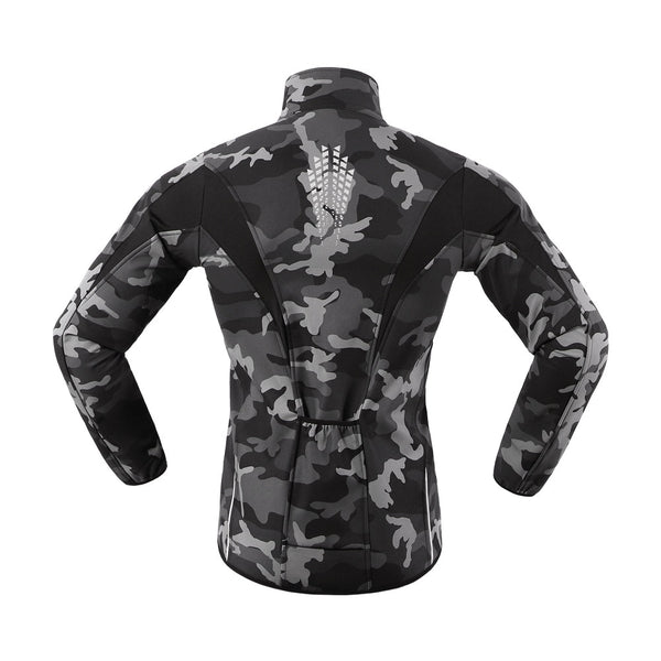 Reflective Winter Cycling Jacket Fleece Warm Bike Jersey Windproof Waterproof MTB Road Bike Clothing Soft shell Coat