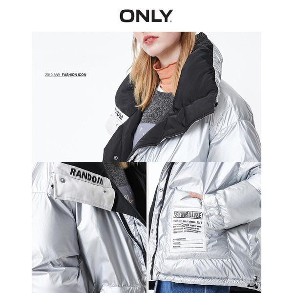 Autumn Winter Women's Loose Fit Double-sided Down Jacket