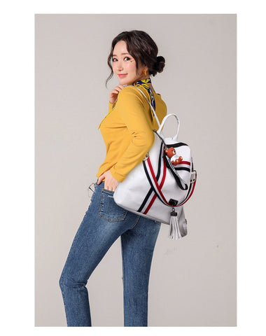 Retro Fashion Zipper Ladies Backpack PU Leather High Quality School Bag Shoulder Backpack for Youth Bags