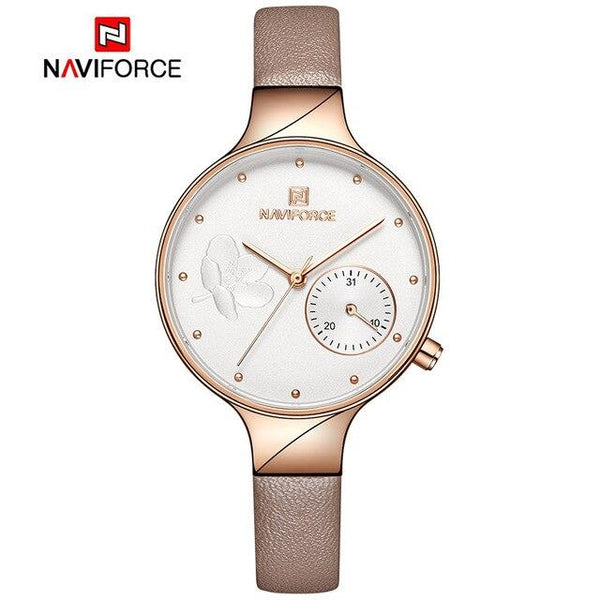 Luxury Fashion Quartz Wrist Watch Ladies Leather Waterproof Watch