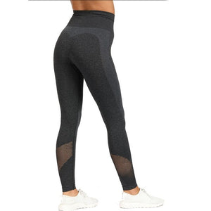 2 Piece Sports Yoga Sets Gym Fitness Athletic Pants Leggings Sportswear Seamless Long Sleep Top Set