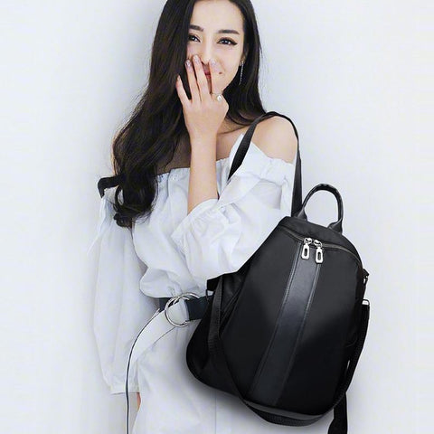 Ladies Casual Classic Fashion Elegant Oxford Cloth Backpack Light Youth Girl Simple Bag
