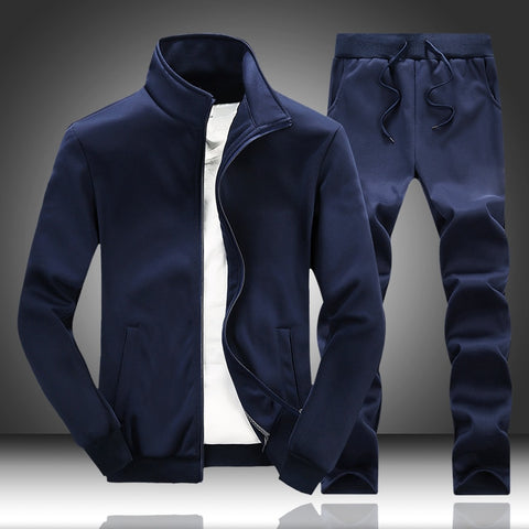 2 Piece Spring Autumn Sportswear Sports Track Suit Jacket and Sweatpants Tracksuit Set