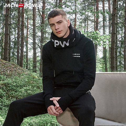 Men's Sports Style hooded long sleeve Pullover