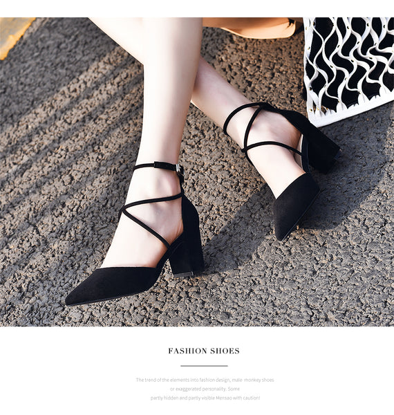 Summer Women Ankle Strap Sandals Low Mid High Heel Shoe Platform Women Sandals Party Shoes Footwear