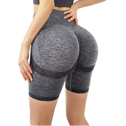 High Waist Women's Yoga Shorts Sports Running Sportswear Fitness Seamless Joggers Athletic Exercise Gym Compression Shorts