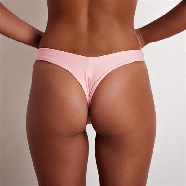 Sexy Brazilian Swimwear Women Briefs Thong Low Waist Swimsuit Bottom Solid Cheeky Bikini Bottom Swim Trunks