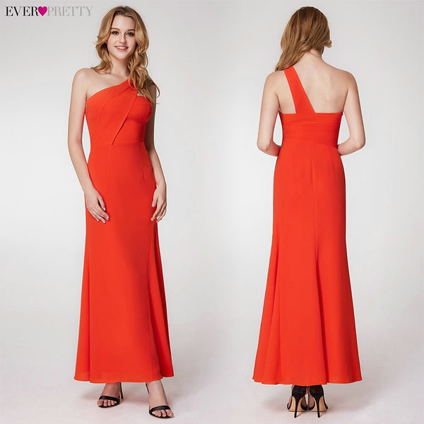 A-Line V-Neck Sleeveless Side Split Simple Formal Party Gowns Long Evening Dress