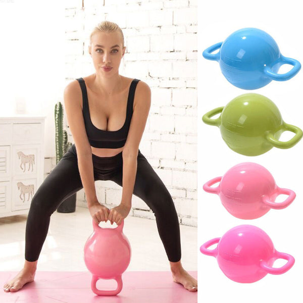 Water-filled Kettlebell Massage Adjustable Weight Yoga Pilates Lifting Woman Strength Training Dumbbells Bodybuilding
