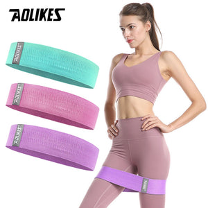 1PC Hip Yoga Resistance Band Wide Fitness Exercise LegsLoop For Circle Squats Training Anti Slip Band