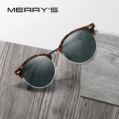 Designer Men Women Classic Retro Rivet Polarized Unisex Glasses Fashion Male Eyewear UV400 Protection Sunglasses