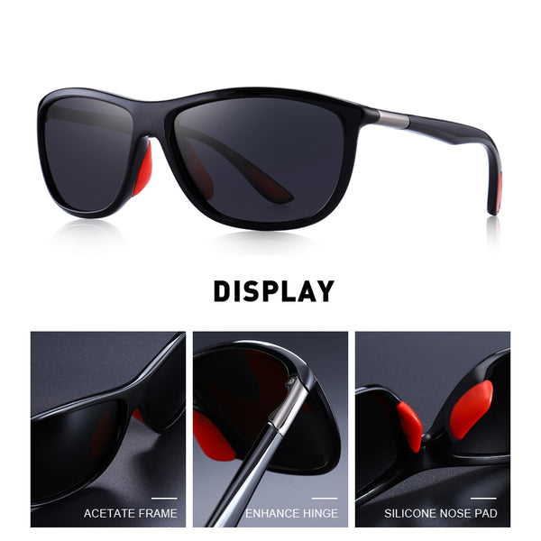Designer Brand Men's HD Polarized Sports Fishing Eyewear UV400 Protection Sunglasses