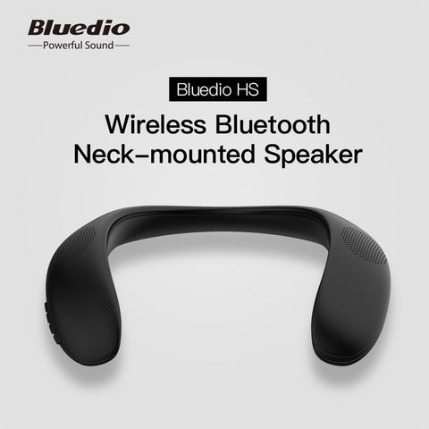 Bluedio HS bluetooth neck speaker column wireless speaker bluetooth 5.0 with bass FM radio SD card slot with microphone for game