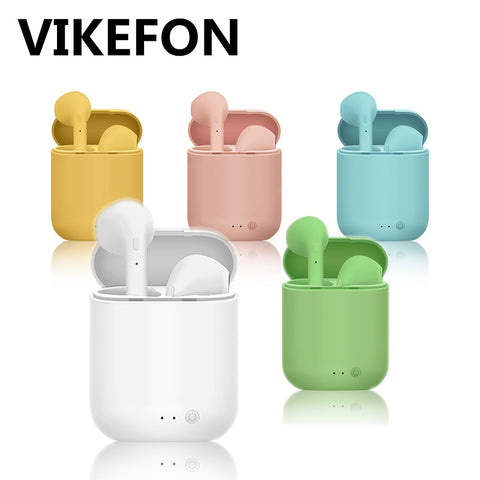 TWS Mini 2 Wireless Headphones Bluetooth 5.0 Earphone Matte Macaron Earbuds Handsfree With Mic Charging Box Headset PK I9S tws