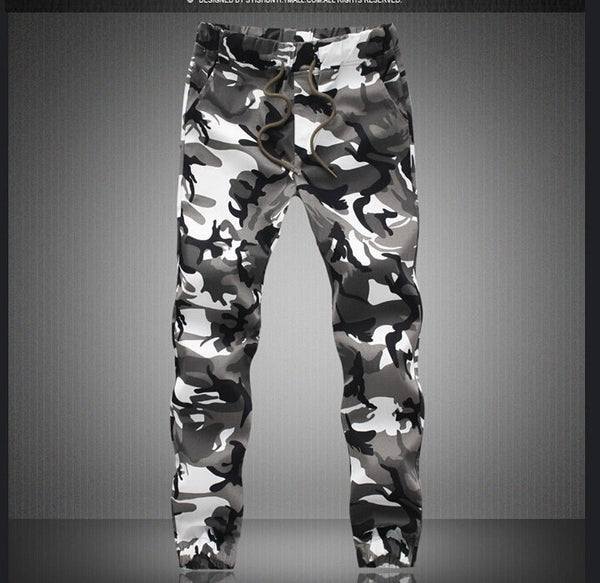 Mens Autumn Pencil Harem Pants Camouflage Military Loose Comfortable Cargo Trousers Joggers Pants