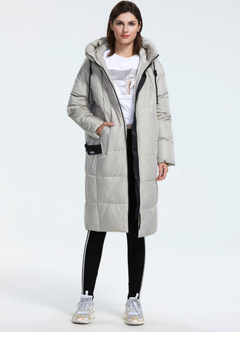 Loose Fit Puffer down outerwear quality with a hood fashion style winter Jacket coat