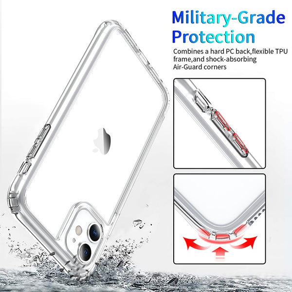 Luxury Shockproof Clear Transparent Silicone Phone Case For iphone 5 5S SE 6 6S 7 8 X XS 11 Pro MAX XR Plus Protection Case