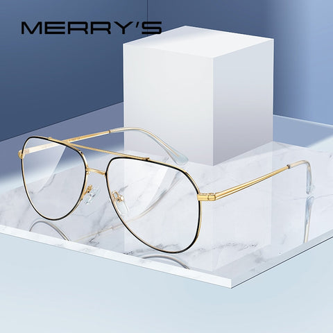 Designer Classic Pilot Glasses Frame For Men Women Fashion Prescription Glasses Frames Optical Eyewear