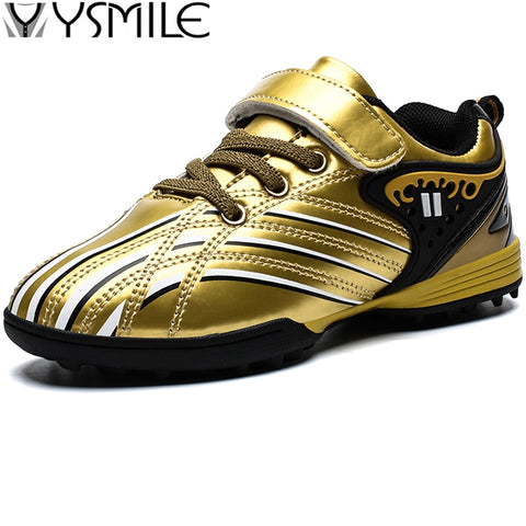 Kids Waterproof Cleats Leather Kids Sneakers Boys Soccer Shoes Children Outdoor Girls Trainer Football Boots