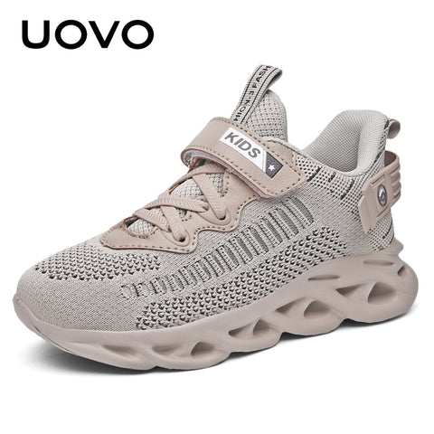 Lightweight Breathable Boys and Girls Convenient Buckle Strap Kids Sport Running Shoes Children Sneakers