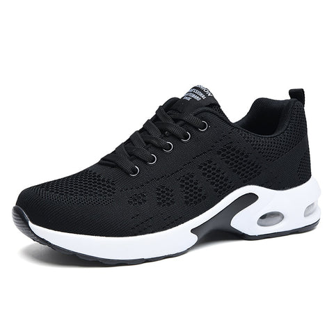 Fashion Lace Up Running Lightweight Sneakers Breathable Outdoor Sports Comfort Air Cushion Running Gym Shoes