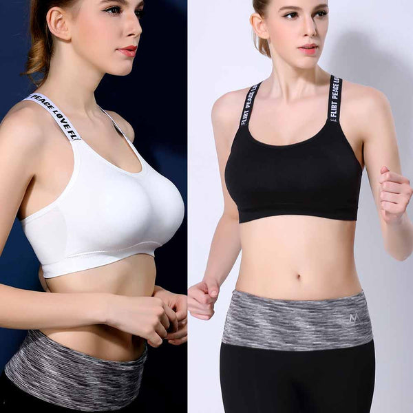 Fitness Cotton Strap Wrapped Chest Workout Yoga Crop Top - The Clothing Company Sydney