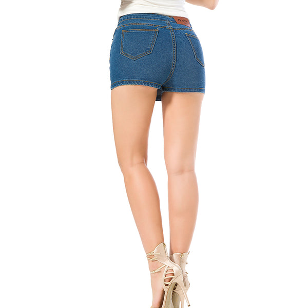 High Waist Denim Slim Blue Short Jeans Vintage Skort Shorts