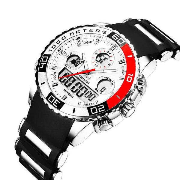 Top Brand Luxury Rubber LED Digital Men's Quartz Watch Sports Army Military Wrist Watch