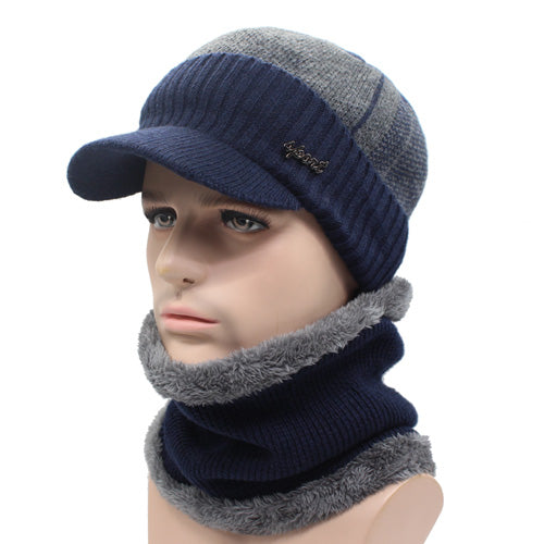 2 Piece Wool Beanie Cap and Scarf